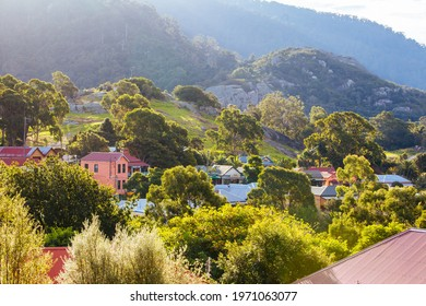 Central Tilba, Australia - April 6 2015: Central Tilba on Bate St in its idyllic setting near Narooma in New South Wales, Australia
