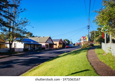 Central Tilba, Australia - April 7 2015: Central Tilba on Bate St in its idyllic setting near Narooma in New South Wales, Australia