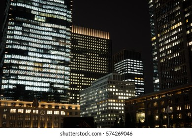 Central Tokyo building light, Japan