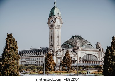 The central train station of Limoges in France