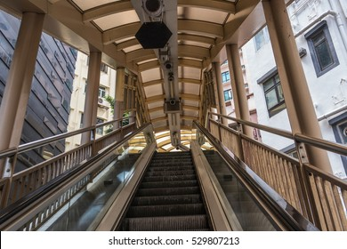 Central-Mid-Levels escalator in Hong Kong