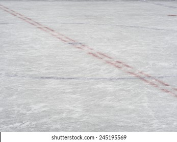 Centre ice markings of an hockey rink, winter sport background