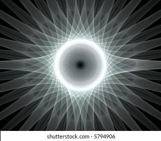centred design element, sun or flower light background