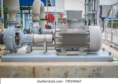 Centrifugal pump with induction motor in factory