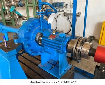 Centrifugal pump and motor installation.