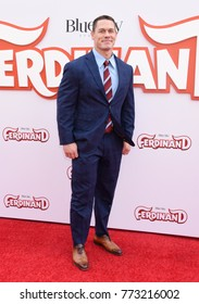 "CENTURY CITY - DEC 10:  John Cena arrives to the ""Ferdinand"" Special Screening  on December 10, 2017 in Century City, CA"