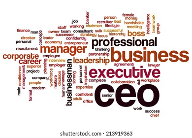CEO concept word cloud background