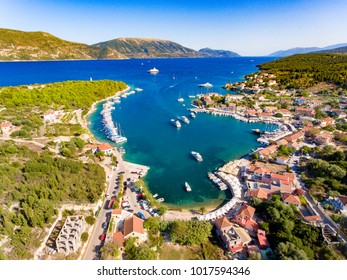 Cephalonia Fiscardo village and port important destination for yachting in the summer