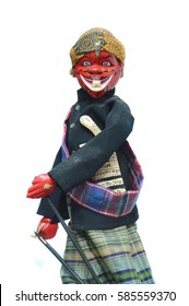 Cepot, traditional puppet doll figure in Indonesia