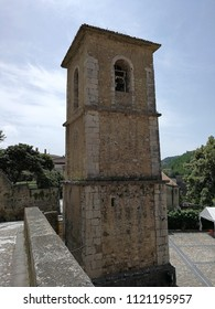 Ceppaloni, Campania, Italy - 8 June 2018: 18th-century bell tower on the churchyard of San Nicola bishop in the historic center of the town