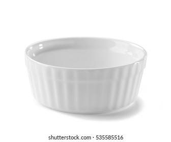 ceramic bowl close-up isolated on white background