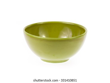 ceramic bowl isolated on the white background