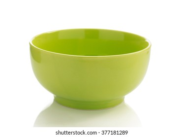 ceramic bowl isolated on white background