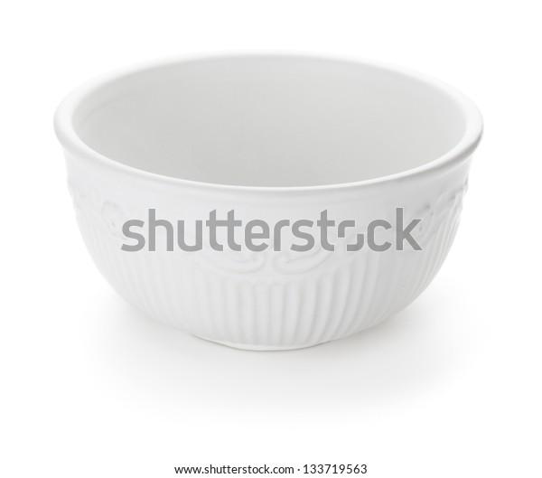 Ceramic bowl. Isolated on white background