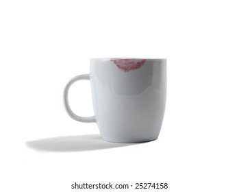 Ceramic Coffee Cup With Lipstick