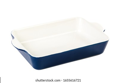 Ceramic cooking baking dish isolated on a white background.