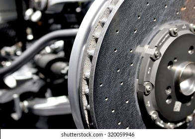 Ceramic disc brake.