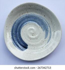 ceramic dish (plate) and zen symbol