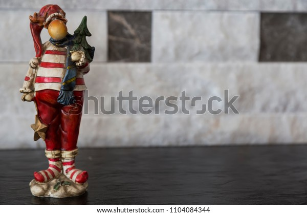 Ceramic figure .christmas concept