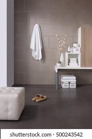 Ceramic floor bathroom