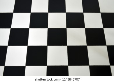 ceramic floor tile black and white cross checker board pattern background