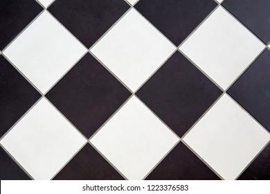 ceramic floor tile black and white