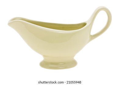 ceramic gravy boat depicted on a white background