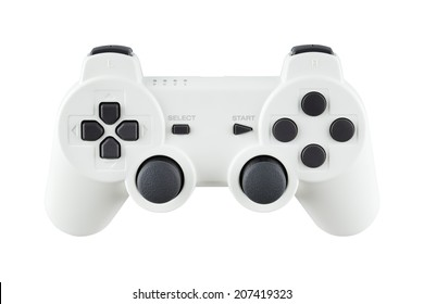 ceramic gray gamepad, isolated on white background