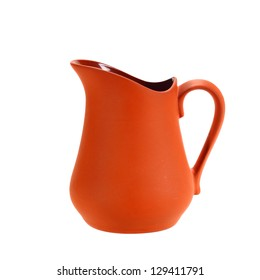 Ceramic jug isolated on white background
