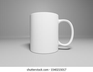 Ceramic Mug on a White Background