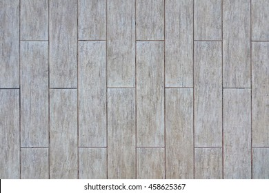 Ceramic Parquet Floor Tiles With Natural Ash Wood Textured Pattern, Background Or Wallpaper With Copy Space, Top View, Close Up