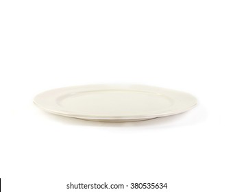 The Ceramic Plate on white background