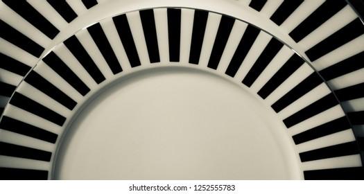 Ceramic plates with black design unique photo