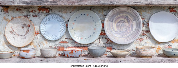 ceramic porcelain pottery dishes in different shape and form