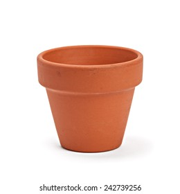 ceramic pot on white background