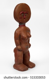 Ceramic souvenir statuette in the African style