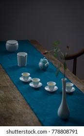 the ceramic teapot