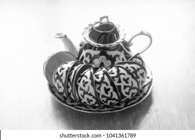 ceramic teapot, Uzbek teapot for tea