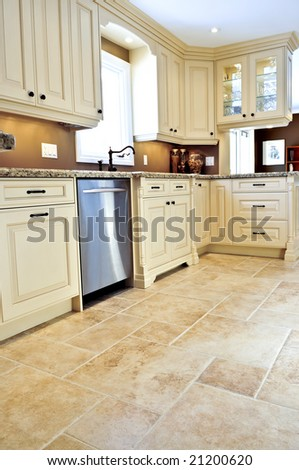 Ceramic Tile Floor Modern Luxury Kitchen Stock Photo Edit Now