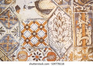 https www shutterstock com image photo ceramic tile pattern elegant vintage tuscany 539778118