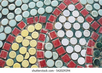 Ceramic tile patterns and colors.