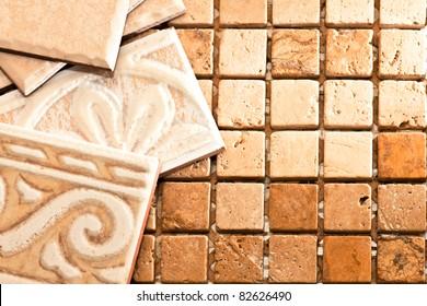 Ceramic tile and stone mosaics
