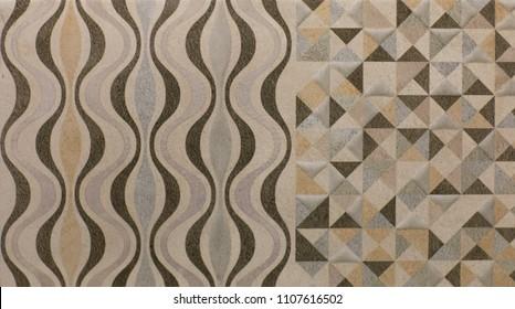 ceramic tile, vintage ornate pattern, abstract geometry