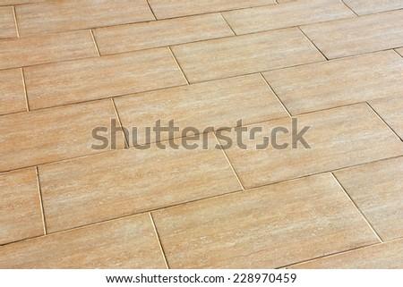 Ceramic Tiles Beige Colour On Floor Stock Photo Edit Now 228970459
