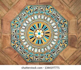 Ceramic tiles design vintage