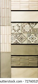 Ceramic tiles for interior. Textures, Mockup