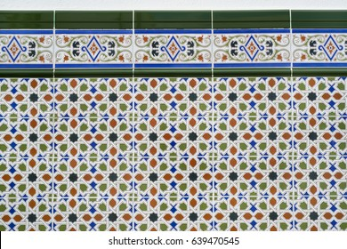 Ceramic tiles in moorish style