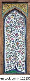 Ceramic tiles mural from Shiraz, Iran