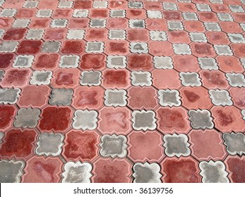 Ceramic tiles textured pattern background design