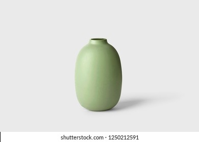 Ceramic vase isolated on white background.Great for decade and design.High resolution photo.